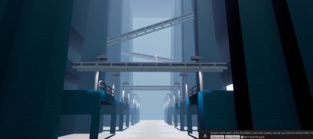 Early environment tests, trying to get the factory feeling right.